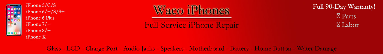 iPhone repair banner
